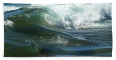 Beach Towel featuring the photograph Cascade Wave by James Peterson