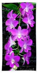 Cascading Orchids Beach Towel