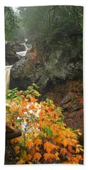 Beach Towel featuring the photograph Cascading Steps by James Peterson