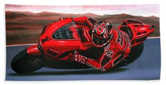 Casey Stoner On Ducati Beach Towel