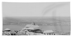 Casino At The Top Of Mt Beacon In Black And White Beach Towel