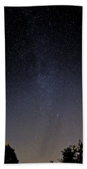 Beach Towel featuring the photograph Cassiopeia And Andromeda Galaxy 01 by Greg Reed