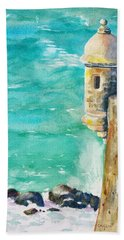 Castillo De San Cristobal Ocean Sentry  Beach Towel