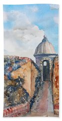 Castillo De San Cristobal Sentry Door Beach Towel
