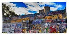 Austin Castle And Graffiti Hill Beach Towel