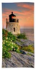 Castle Hill Lighthouse-rhode Island Beach Towel