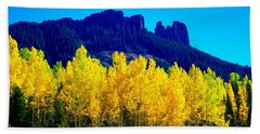 Autumn Castle Rock Aspens Beach Towel