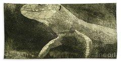 casual meeting Reptile Viviparous Lizard  Lacerta vivipara Beach Sheet