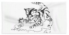 Cat- Cute Kitty  Beach Towel
