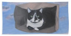 Cat In A Bag Beach Towel