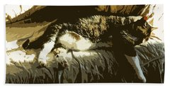 Cat Nap Beach Towel