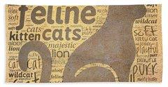 Cat Typography Beach Sheet