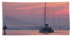 Catamaran At Dawn Beach Sheet