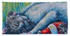 Catatonic Beach Towel by Gail Butler
