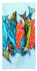 Beach Towel featuring the painting Catch Of The Day by Patti Schermerhorn