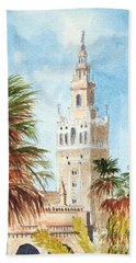 Catedral De Sevilla Beach Towel by Bill Holkham