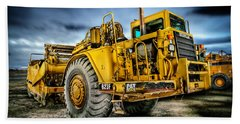 Caterpillar Cat 623f Scraper Beach Towel by YoPedro