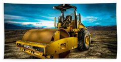 Caterpillar Cat Roller Cs563e Beach Towel by YoPedro