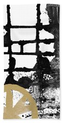 Cathedral- Abstract Painting Beach Towel