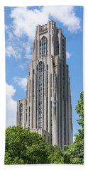 Cathedral Of Learning - Pittsburgh Pa Beach Sheet