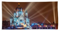 Cathedral Of St Paul Ready For Red Bull Crashed Ice Beach Sheet
