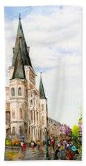 Cathedral Plaza - Jackson Square, French Quarter Beach Towel