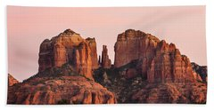 Cathedral Rock Sunset Beach Towel