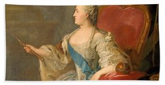 Catherine The Great, 1763 Oil On Canvas Beach Towel