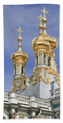 Beach Towel featuring the photograph Catherine's Palace by Victoria Harrington