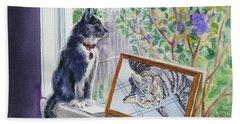 Cats And Mice Sweet Memories Beach Sheet by Irina Sztukowski