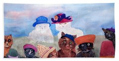Cats In Hats Beach Towel