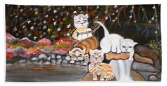 Cats In The Wild II Beach Towel