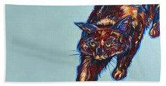 Cattitude Beach Towel