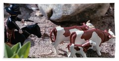 Cattle Rustler Beach Towel