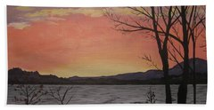 Caucomgomoc Lake Sunset In Maine Beach Towel