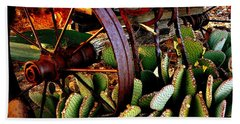 Caught In A Cactus Patch-sold Beach Towel