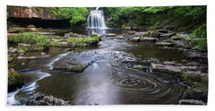 Cauldron Falls At West Burton Beach Towel