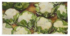 Cauliflower March Beach Towel by Jen Norton