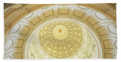 Ceiling Of The Dome Of The Texas State Beach Towel