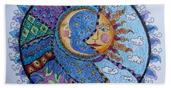 Celestial Tangle Beach Towel