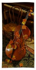 Cello Autumn 1 Beach Towel by Mick Anderson