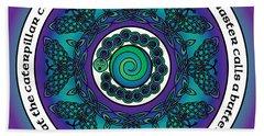 Celtic Butterfly Mandala Beach Towel