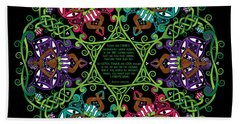 Celtic Fairy Mandala Beach Sheet