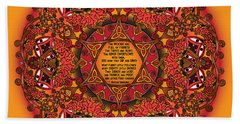 Celtic Fall Fairy Mandala Beach Sheet