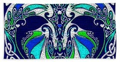 Celtic Love Dragons Beach Towel