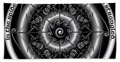 Celtic Spider Mandala Beach Sheet