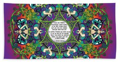 Celtic Spring Fairy Mandala Beach Sheet