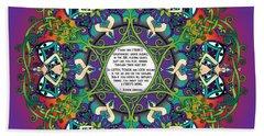 Celtic Spring Fairy Mandala Beach Towel