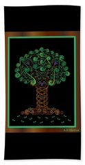 Celtic Tree Of Life Beach Sheet