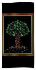 Celtic Tree Of Life Beach Towel